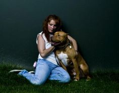 This woman is AMAZING <3 - a real role model. Her name is Tia and she runs the Villalobos Rescue Centre - for pit bulls (they also take other breeds)....she started a program titled 'Pitbulls & Parolees' - where both young people and animals get a second chance - this woman is truly inspiring. Keep up the great work Tia!!!!!!!