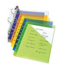 avery mini binder pockets fits 3 ring and 7 ring binders assorted pack of 5 75307