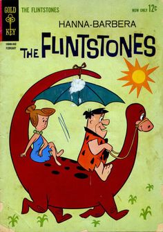 Cover for The Flintstones (Western, 1962 series) Retro Cartoons, Old Cartoons, Classic Cartoons, Animated Cartoons, Vintage Comic Books, Vintage Cartoon, Vintage Comics, Children's Comics, Comics Story