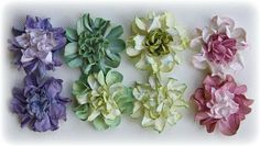 Flower Tutorial ~ Making Water Distressed Cardstock Blooms