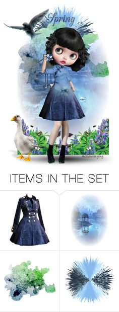 """""""Doll In Blue💙"""" by crochetragrug ❤ liked on Polyvore featuring art"""