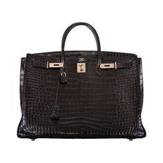 HERMES BIRKIN BAG 40CM BLACK CROCODILE POROSUS PHW DREAM BAG JaneFinds   From a collection of rare vintage top handle bags at https://www.1stdibs.com/fashion/handbags-purses-bags/top-handle-bags/