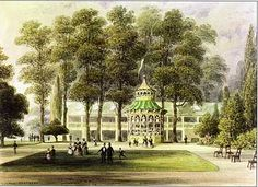 Cremorne Gardens in 1852, depicted in a watercolour by TH Shepherd (Royal…