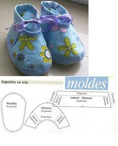 Ideas and inspirations Felt Shoes, Crochet Baby Shoes, Doll Shoe Patterns, Baby Patterns, Sewing For Kids, Baby Sewing, Baby Kids Clothes, Doll Clothes, Baby Boots