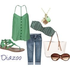 Sea Green for Summer, created by diazoo on Polyvore diazoo