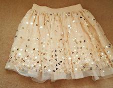Girls peach sequin tutu skirt - George 7-8 years bnwot