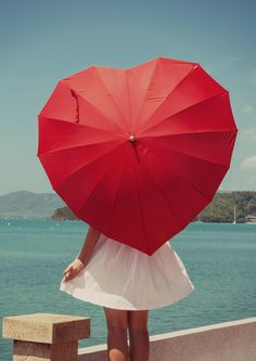 Yes, I'm still going to misbehave! Red Umbrella, Under My Umbrella, Heart In Nature, Heart Art, I Love Heart, Key To My Heart, Parasols, Heart Images, Jolie Photo