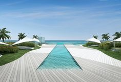 Exotic pool and sun