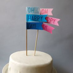 A fun topper makes cake even better.