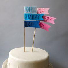 A fun topper makes cake even better.
