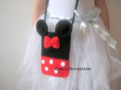 Minnie Mouse crochet bag