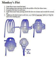 Learn how to make a Paracord Monkey Fist Knots and Keychain from Tutorials with instructions. Make cool paracord accessories using monkey fist knot.Feb 15 Program: Ornamental Ropework- Given by KimWe love to sail. Paracord Knots, Paracord Keychain, Rope Knots, Diy Keychain, Macrame Knots, Paracord Bracelets, Knot Bracelets, Survival Bracelets, Keychains