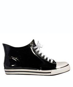 Black Sneaker Rain Boot