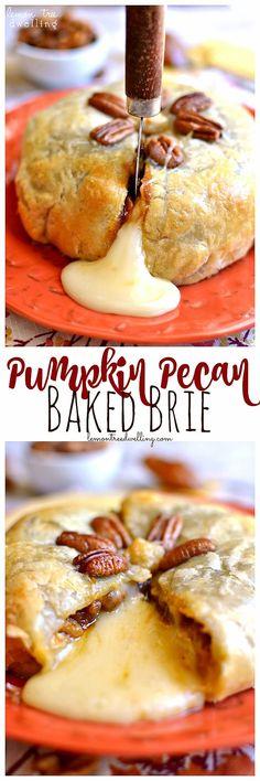 Pumpkin Pecan Baked Brie