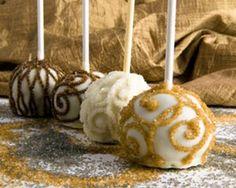 """""""Sugar Fairies"""" Gourmet Brownie Favors design idea but art deco"""