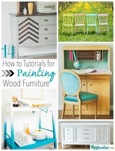 How to Tutorials for Painting Wood Furniture-jpg