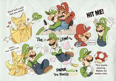 Mario Fan Art, Super Mario Art, Mario Bros., Mario And Luigi, Super Mario Brothers, Super Mario Bros Nintendo, Sakura And Sasuke, Naruto And Sasuke, Paper Luigi