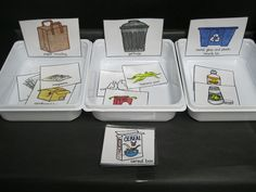 recycle sorting for Earth Day
