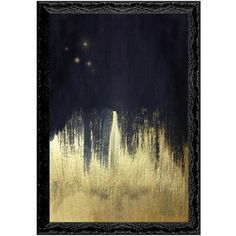 Oliver Gal 'Starry Night' Framed Art Print ($639) ❤ liked on Polyvore featuring home, home decor, wall art, black, framed wall art, star home decor, black wall art, star wall art and black framed wall art