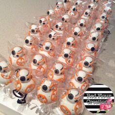 Star Wars The Force Awakens BB-8 Cake Pops