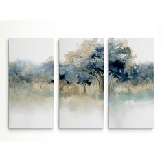 Alcott Hill 'Waters Edge II' Acrylic Painting Print Multi-Piece Image on Wrapped Canvas Canvas Online, Art Graphique, Wall Art Sets, Watercolor Landscape, Canvas Artwork, Painting Prints, Art Paintings, Large Painting, Metal Wall Art