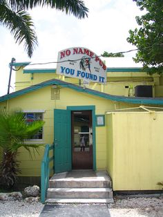 No name pub right off of Big Pine Key - best pizza in the world. Cool place no name key, full of dollar bills!
