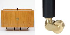 Glove Cabinet in cherry, wengé, steel and brass - 2015 Edition, OneCollection. Finn Juhl.