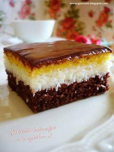 Kókuszos sütemény Albanian Recipes, Croatian Recipes, Hungarian Desserts, Hungarian Recipes, Sweet Recipes, Cake Recipes, Dessert Recipes, Cake Cookies, Cupcake Cakes