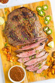 Zesty Carne Asada Marinade - Chili Pepper Madness Lamb Steak Recipes, Steak Marinade Recipes, Marinated Steak, Grilling Recipes, Steak Marinades, Rub Recipes, Game Recipes, Spicy Recipes, Salad Recipes