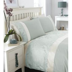 Buy Catherine Lansfield Home Special Purchase Ivory Double Bed Duvet Cover Set Duckegg from our Single Duvet Covers range - Tesco.com