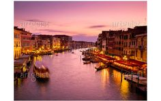 Fotomurale moderno Città degli innamorati: Venezia di notte - Venezia - Citta' - Viaggi - Fotomurali