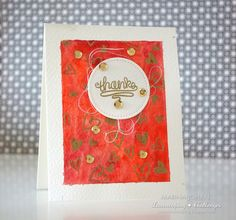 Lawnscaping Challenge: Watercolouring With Gold Embossed Images