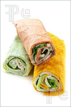 Wrap shells with meat, cheese, and spread (ie: spinach dip, hummus, mustard, ranch, etc.) rolled up and cut into 2 or 3 pieces- Cheap and easy food option- Bridal Shower