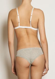 Brazilian cut undies CHEEKY BASE- grey melange