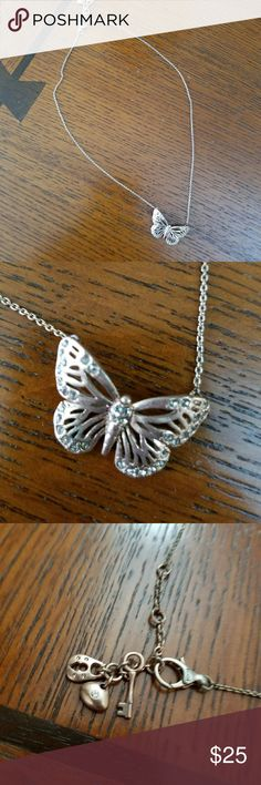 Rose Gold Butterfly Necklace Rose Gold Butterfly Necklace from Fossil Fossil Jewelry Necklaces