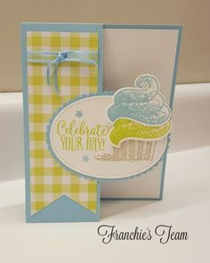 Stampin' Up! hello cupcake, call me cupcake framelits Happy Birthday Cards, Birthday Greetings, Cake Birthday, Birthday Wishes, Fun Fold Cards, Folded Cards, Karten Diy, Stamping Up Cards, Up Girl