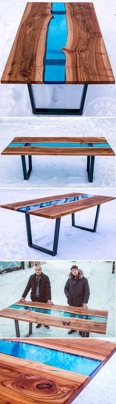 Beautiful dining table made of wooden slabs Elm with the live edges and of the glass with a blue color. Age of a tree - 400 years! Table size:. 220x100x75 cm. Base - metal.Stylish and modern dining table | Красивый обеденный стол сделан из слэбов дерева Карагач с живым краем и стекла с синим окрасом. Возраст дерева - 400 лет. Размер стола: 220x100x75 см. Основание - металл. #moderntable #ecofurniture #tableglasswood