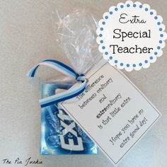 """Teacher Appreciation Week Discover Easy Teacher Appreciation Gifts Easy and inexpensive teacher appreciation gifts - """"Extra"""" special teacher School Gifts, Student Gifts, Teacher Gifts, Teacher Treats, Teacher Stuff, School Stuff, Thank You Gifts, Gifts For Him, Craft Gifts"""