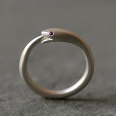 Ouroboros Snake Ring in Sterling Silver by MichelleChangJewelry, $114.00