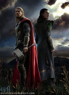 The Dark World by eleathyra on deviantART ~ Thor & Loki ~ actors Chris Hemsworth & Tom Hiddleston ~ digital art