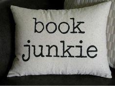 Book Junkie Pillow Case