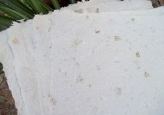 Recycled Handmade Paper Oatmeal by ThePulparazzi on Etsy