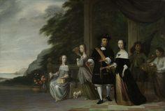 Pieter Cnoll, Cornelia van Nijenrode en hun dochters, Jacob Coeman, 1665