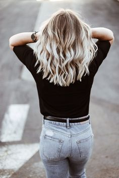 icy blonde hair with christine bennett of moxiefashionblog.com