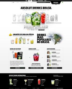 Absolut Drinks Brasil by André Mancini dos Santos, via Behance