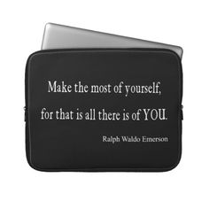 Vintage Emerson Inspirational Quote - Customizable Laptop Sleeve