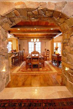 rustic stone interior