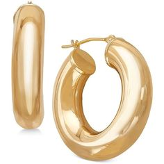 Polished Tube Hoop Earrings in 14k Gold (2.640 DKK) ❤ liked on Polyvore featuring jewelry, earrings, yellow gold, yellow gold hoop earrings, gold hoop earrings, 14 karat gold hoop earrings, 14 karat gold earrings and yellow gold earrings