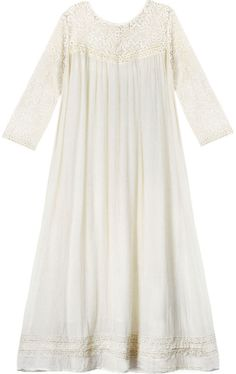 Blue Ivory Lace Duster Dress