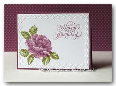 stampin up stippled blossoms | Stampin Up Only / SU Stippled Blossoms, Framed Tulips E F